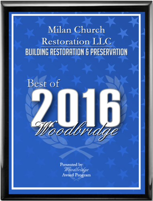 2016 MIlan Church Restoration Award